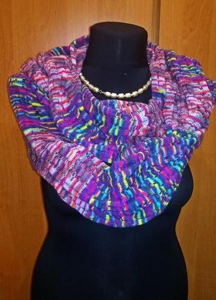 Снуд - шарф разноцветный1