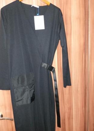 Платье миди zara оригинал прямое с ремнём оригинал с карманом классическое3