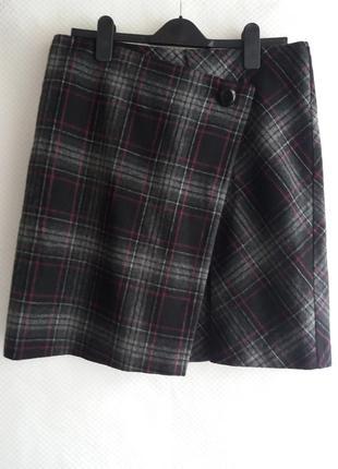 Теплая юбка с шерстью в составе m&s 14 ( xl )   3.191