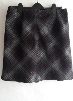 Теплая юбка с шерстью в составе m&s 14 ( xl )   3.193