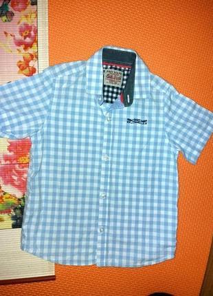 Рубашка в клетку 4г next оригинал