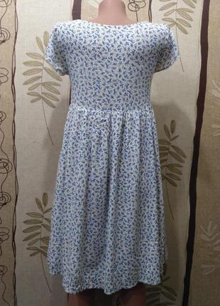Clockhouse. вискоза. лёгкое летнее платье в цветочный принт, размер xs-s2