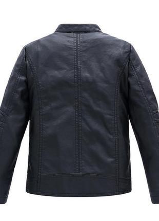 Классная куртка с искусственной кожи на осень2 фото