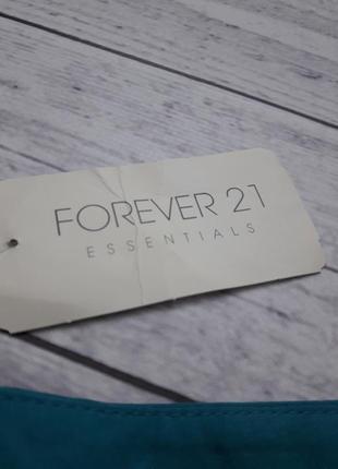 Юбка forever 21, бирюзова голубая мини юбка, класическая деловая юбка с оборками5 фото