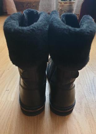 Новые натуральные фирменные утепленные ботинки 36р./23 см4 фото