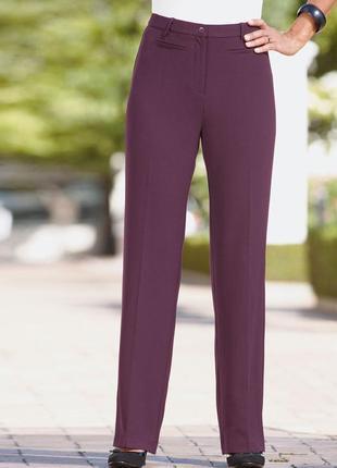 Брюки классические прямые красивого пастельного фиолетового цвета от damart1