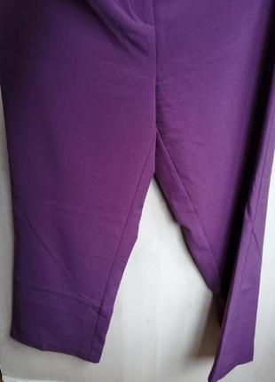 Брюки классические прямые красивого пастельного фиолетового цвета от damart3