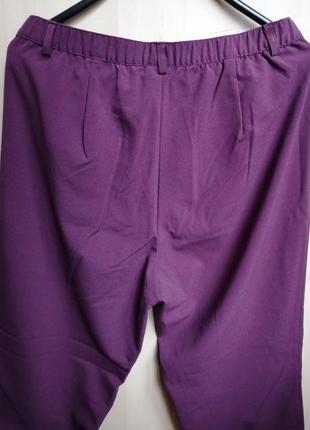 Брюки классические прямые красивого пастельного фиолетового цвета от damart4