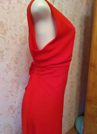 Платье в пол вечернее платье красное3 фото