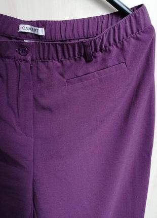 Брюки классические прямые красивого пастельного фиолетового цвета от damart5