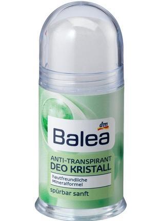 Сухой солевой природный дезодорант кристалл balea производства германии