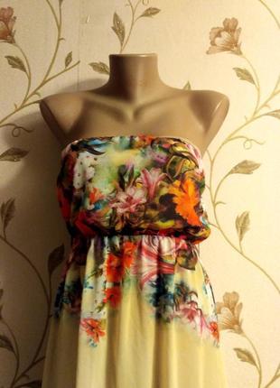 Шикарное платье с цветочным принтом в пол3
