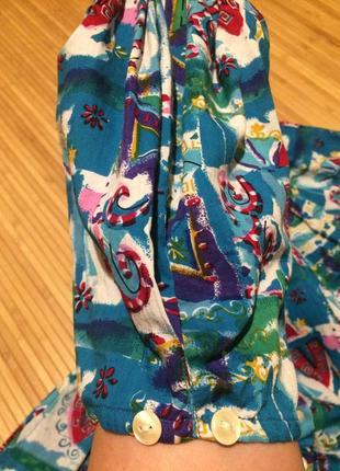 Красочное платье с пышной юбкой,размер xl3