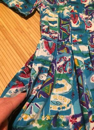 Красочное платье с пышной юбкой,размер xl4