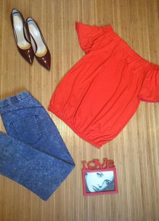 Стильная трикотажная блуза, размер l1