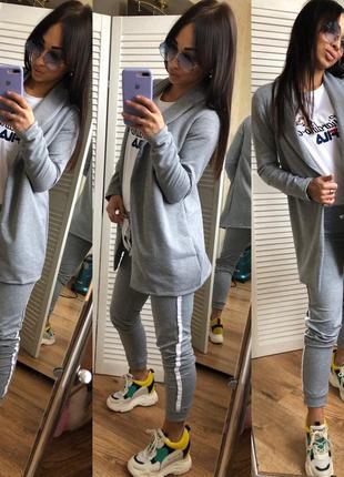 Женский спортивный костюм брюки и пиджак1