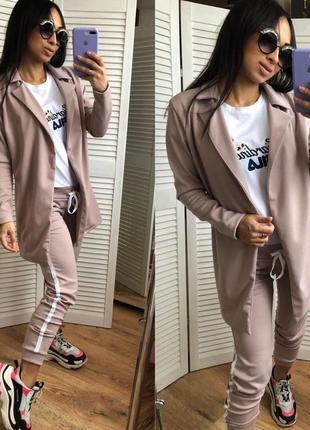 Женский спортивный костюм брюки и пиджак4