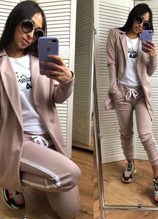 Женский спортивный костюм брюки и пиджак6