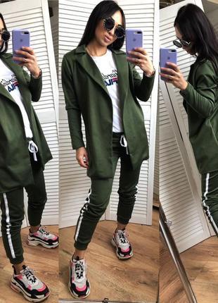 Женский спортивный костюм брюки и пиджак7