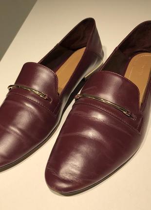 Massimo dutti лоферы женские кожаные1