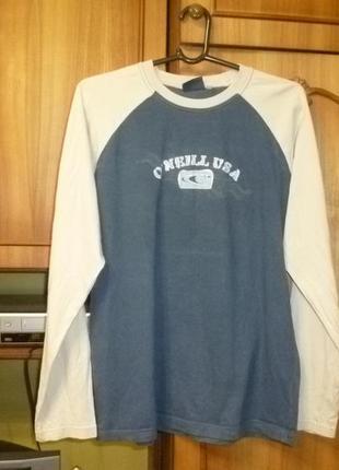 Муржская коттоновая трикотажная футболка-реглан с длинным рукаво,свитшот