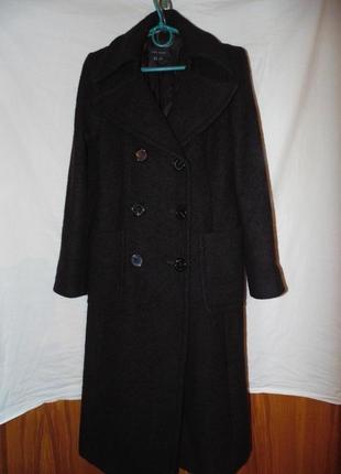 Пальто двубортное шерстяное zara оригинал5 фото
