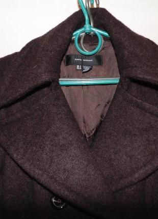 Пальто двубортное шерстяное zara оригинал4 фото