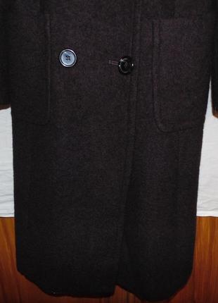 Пальто двубортное шерстяное zara оригинал8 фото