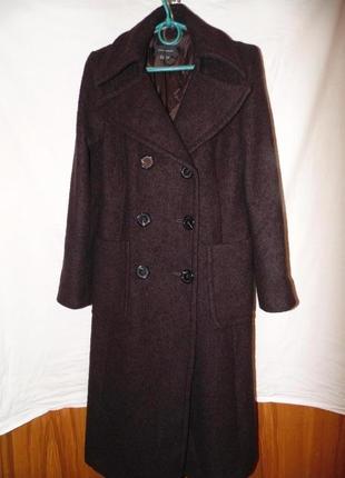 Пальто двубортное шерстяное zara оригинал1 фото