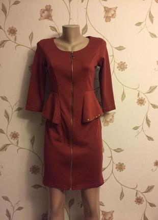 Платье плотный трикотаж длинный рукав1