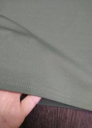 Мини юбка оттенок хаки4