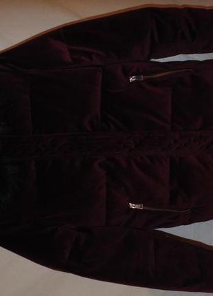 Куртка бархат вилюр зимняя river island оригинал3