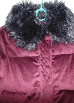 Куртка бархат вилюр зимняя river island оригинал7