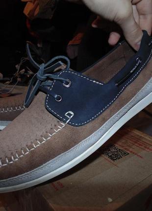 Туфли мокасины натуральная кожа и замша  nicholas deakins оригинал