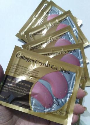 Гидрогелевые патчи дла глаз коллаген розовые collagen crystal eye mask, маска коллагеновая9 фото