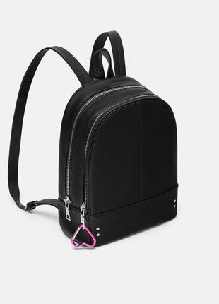 Рюкзак портфель оригинал zara ранец под кожу с сердечком брелком1