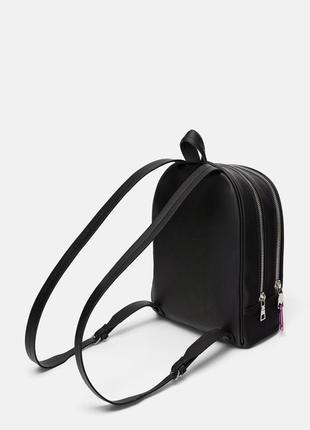 Рюкзак портфель оригинал zara ранец под кожу с сердечком брелком3