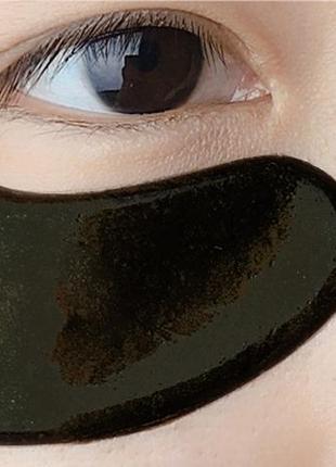 Гидрогелевые патчи дла глаз коллаген чёрные collagen crystal, маска коллагеновая4