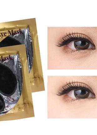 Гидрогелевые патчи дла глаз коллаген чёрные collagen crystal, маска коллагеновая6