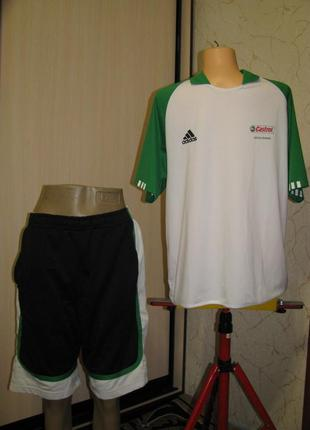 Форма мужская спортивная l футболка шорты размер 48 adidas