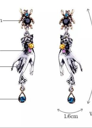 Роскошные серьги в стиле арт-нуво2 фото