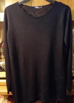 Шикарный свитер,туника,ассиметрия,перфорация ferrante, италия,оригинал,смотрим все фото!