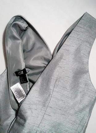 Красивое платье в цвете «серебро» h&m. размер 40 (m/l)4