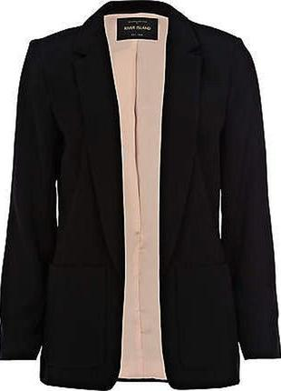 Базовый удлиненный пиджак без застежек6 фото