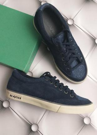 Seavees оригинал кеды сникерсы кроссовки синие замшевые бренд из сша