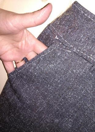 Приятные серые (весна,осень) брюки с карманами,большого 20-22 размера2