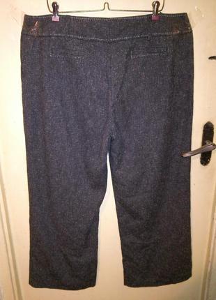 Приятные серые (весна,осень) брюки с карманами,большого 20-22 размера3