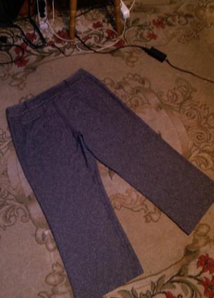 Приятные серые (весна,осень) брюки с карманами,большого 20-22 размера5
