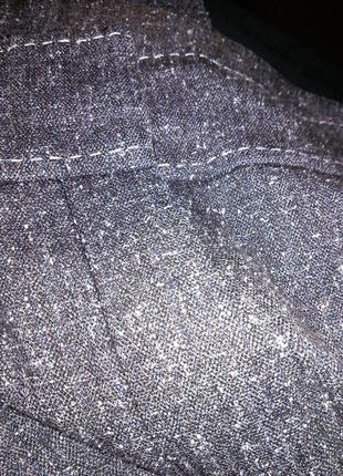 Приятные серые (весна,осень) брюки с карманами,большого 20-22 размера6