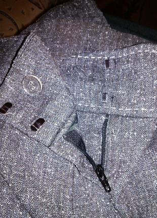 Приятные серые (весна,осень) брюки с карманами,большого 20-22 размера7